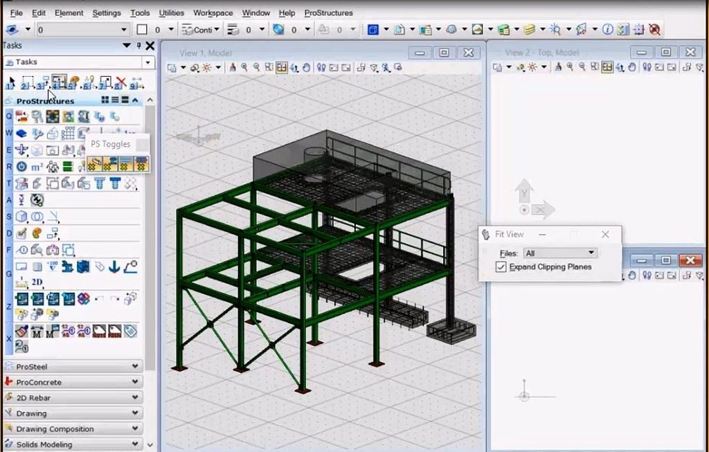 Through integration with ProStructures, OpenPlant Modeler users can now create and exchange steel and concrete components for detailed plant designs. Image courtesy: Bentley Systems