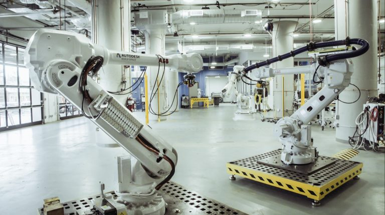 Autodesk's Boston BUILD Space is home to six industrial robots.