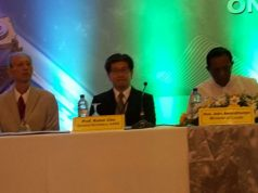 Sri Lanka minister of land John Amarathunga at the 37th ACRS conference.