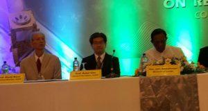 Sri Lanka minister of land John Amarathunga at the 37th ACRS conference.