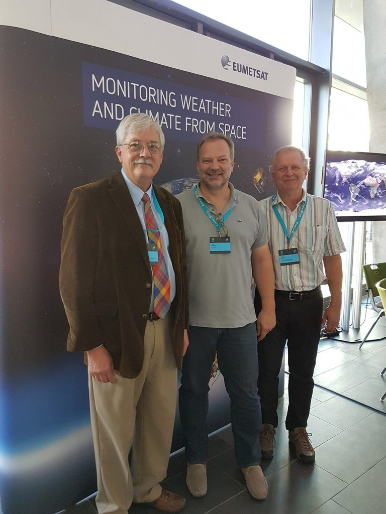 Dr Paul Menzel, Dr Jörg Schulz and Dr David Santek were happy to discuss the discovery of data from the late 1970s – previously thought lost – when they met at EUMETSAT's recent Meteorological Satellite Conference in Darmstadt.