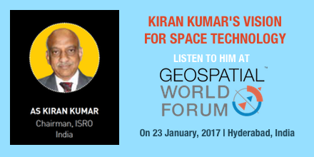 What is Kiran Kumar's Vision for Space Technology? Join him at Geospatial World Forum 2017 to know more!