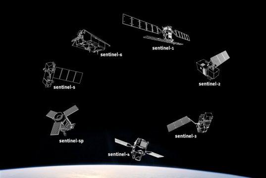 The constellation of Copernicus Sentinels (Credits ESA)
