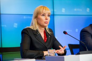 EU Industry and Entrepreneurship Commission Elzbieta Bienkowska unveiling the European Space Strategy