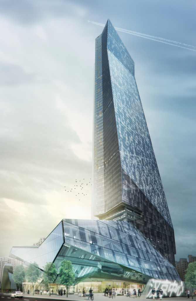 The US-based Morphosis has been hired as the design architect for this 350-meter tall Hanking Center Tower to provide the detailing and specifications for all the exterior envelope and public spaces throughout the building.