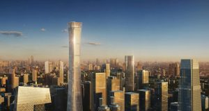 China Zun Tower located in Beijing.