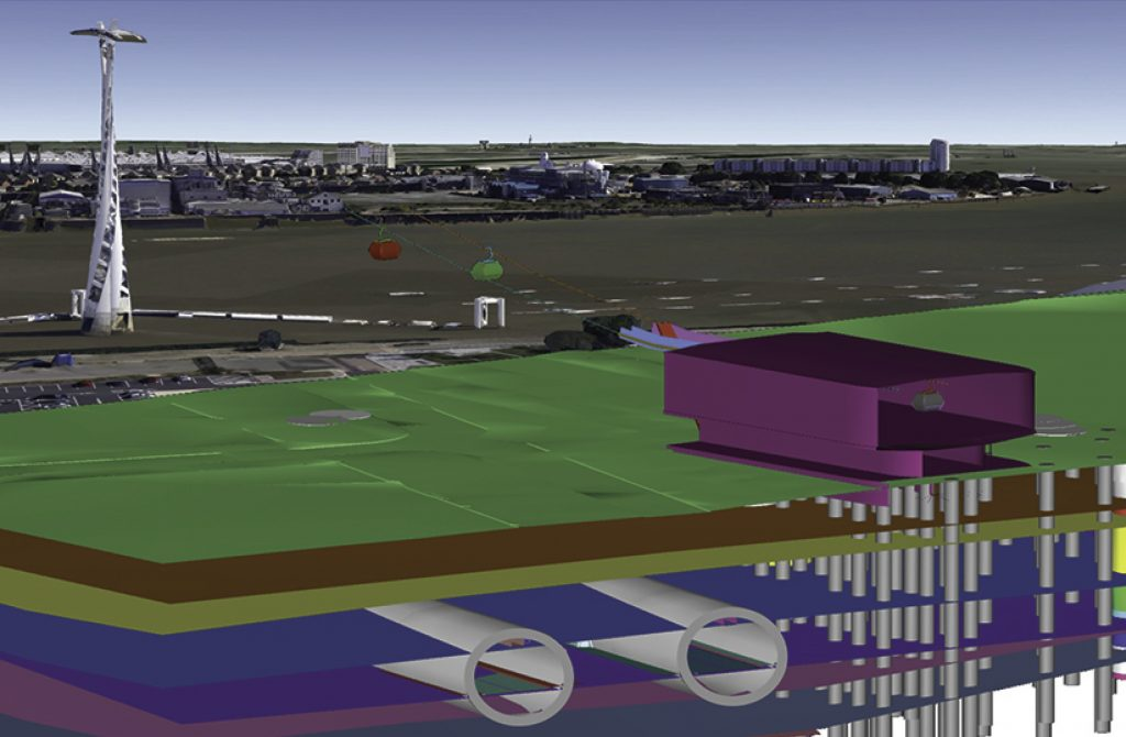 Combining geological modelling and BIM for infrastructure