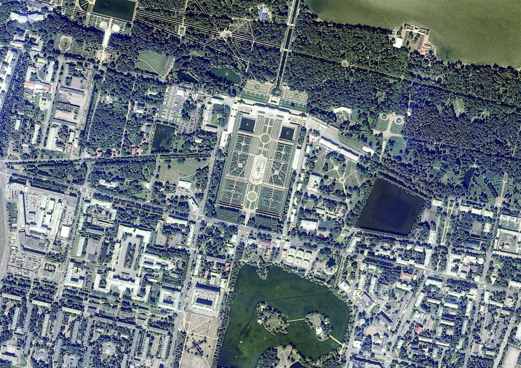 Peterhof Park, St. Petersburg, Russia. Credit: Resurs-P data (2015) Roscosmos