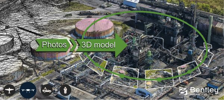 ContextCapture allows users to easily produce high resolution 3D models of existing conditions using photos taken with any digital camera, whether handheld or mounted to a vehicle or UAV.