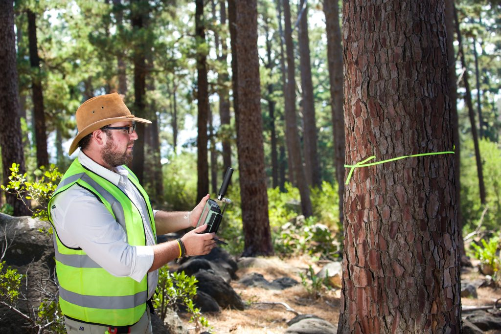 Forestry surveying using a GNSS receiver. Photo: ©GSA, ©European GNSS Agency