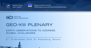 Representatives from GEO's 103 Member governments and 106 Participating Organizations (POs) convened to launch a new look for the Global Earth Observation System of Systems (GEOSS) Portal at the Thirteenth GEO Plenary Meeting, in St Petersburg, Russia.
