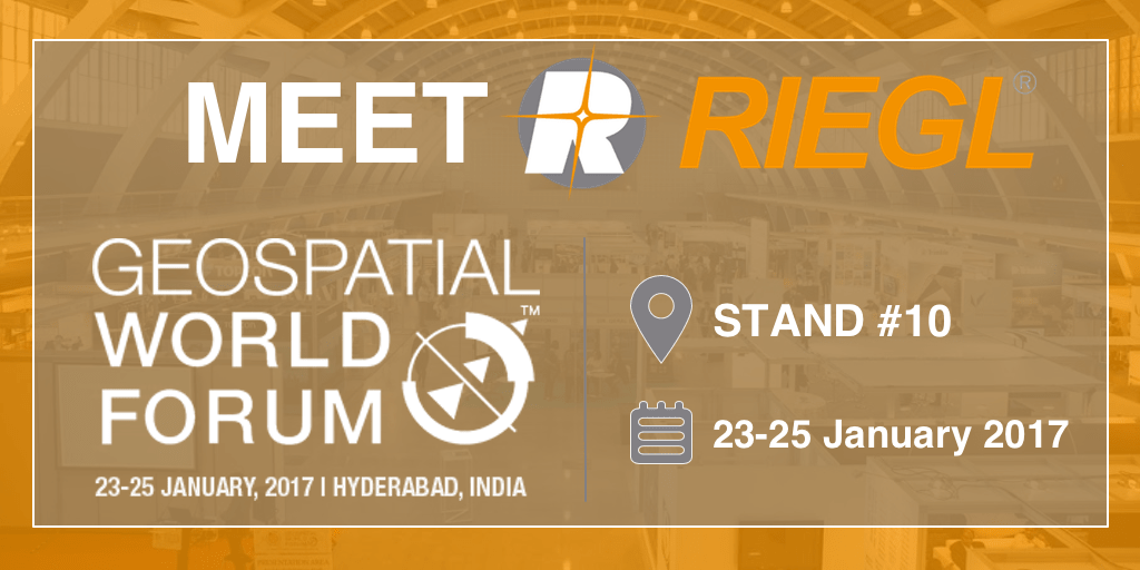 Don't miss your opportunity to test out RIEGL's LiDAR offerings at Geospatial World Forum 2017