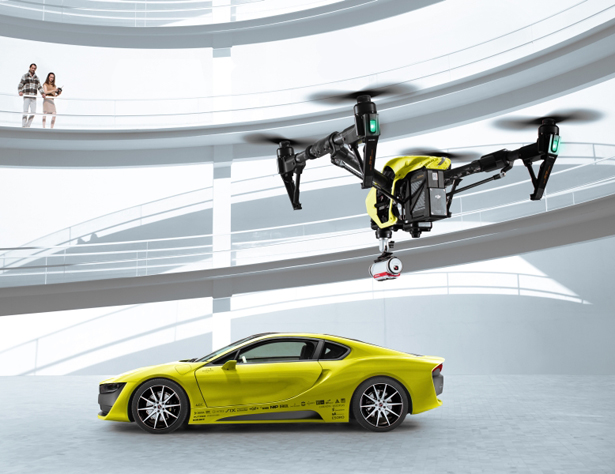 Automobile company Ford is studying a system through which it can use drones to help self-driving cars. The system also guides the vehicles in off-road adventures.