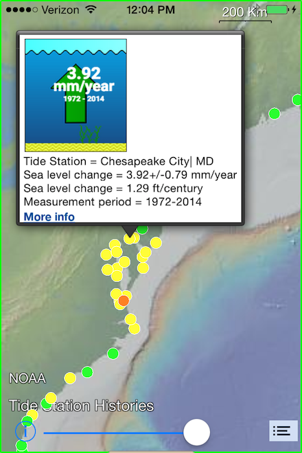 Tide Stations Showing Local Annual Sea Level Rise