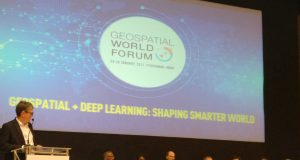 closing plenary panel of Geospatial World Forum (GWF) 2017