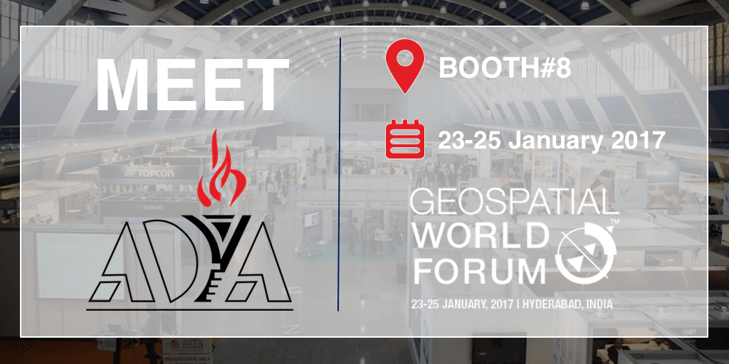 AdyaIT will be demonstrating its offerings at booth number 8 of Geospatial World Forum 2017 exhibition
