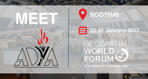 AdyaIT will be demonstrating its offerings at booth number 8 of Geospatial World Forum 2017 exhbition