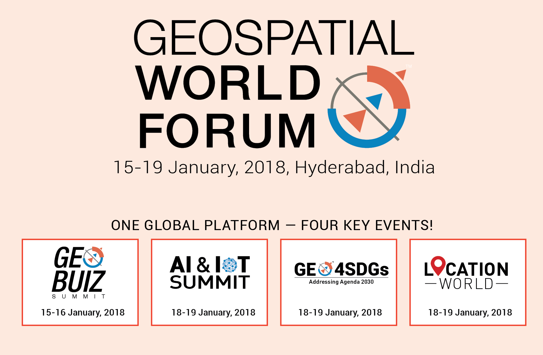 Geospatial world forum 2018 15th 19th january 2018 geospatial world forum 2018 is the global flagship event produced and organized by geospatial media and communications the conference has successfully gumiabroncs Images