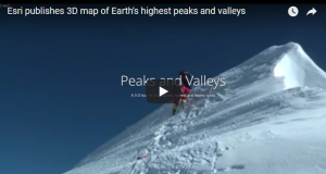 ESRI publishes 3d map earths highest peaks