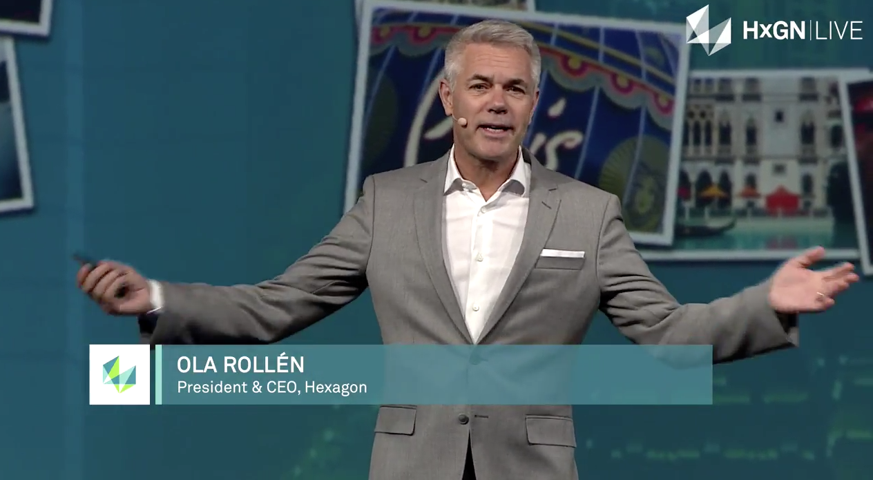 Keynote address by Ola Rollén at HxGN Live in Las Vegas
