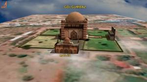 3D digital model of Gol Gumbaz.