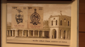 Commemorative stamp of Survey of India launched by India Post