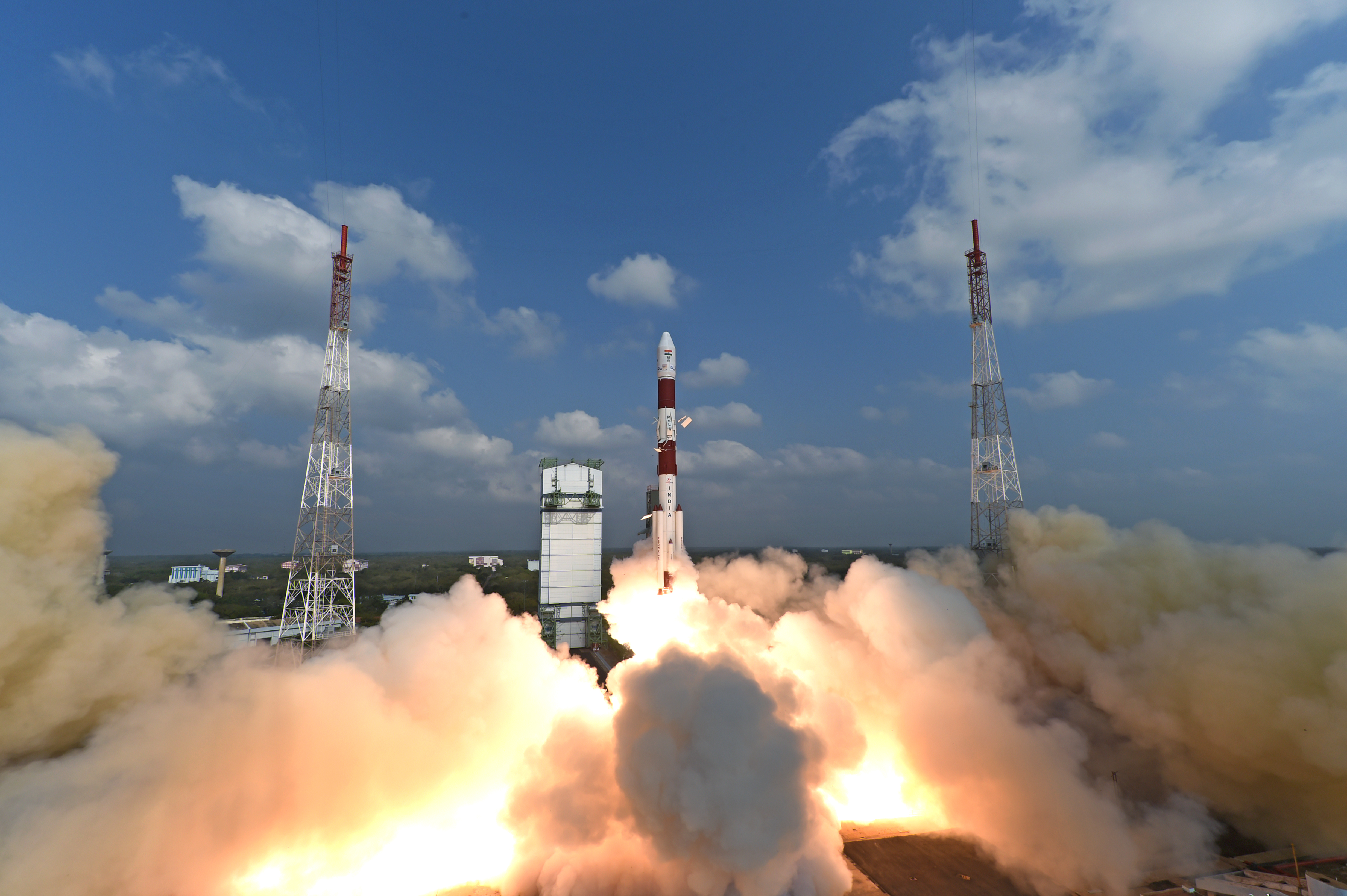 PSLV-C37 goes up carrying a record 104 satellites from Sriharikota on February 15.