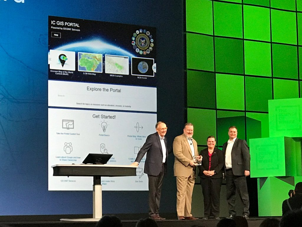 NGA team receives the Enterprise GIS Award at ESRI UC 2017