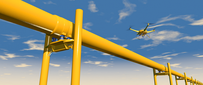 Drones for offshore oil and gas operations