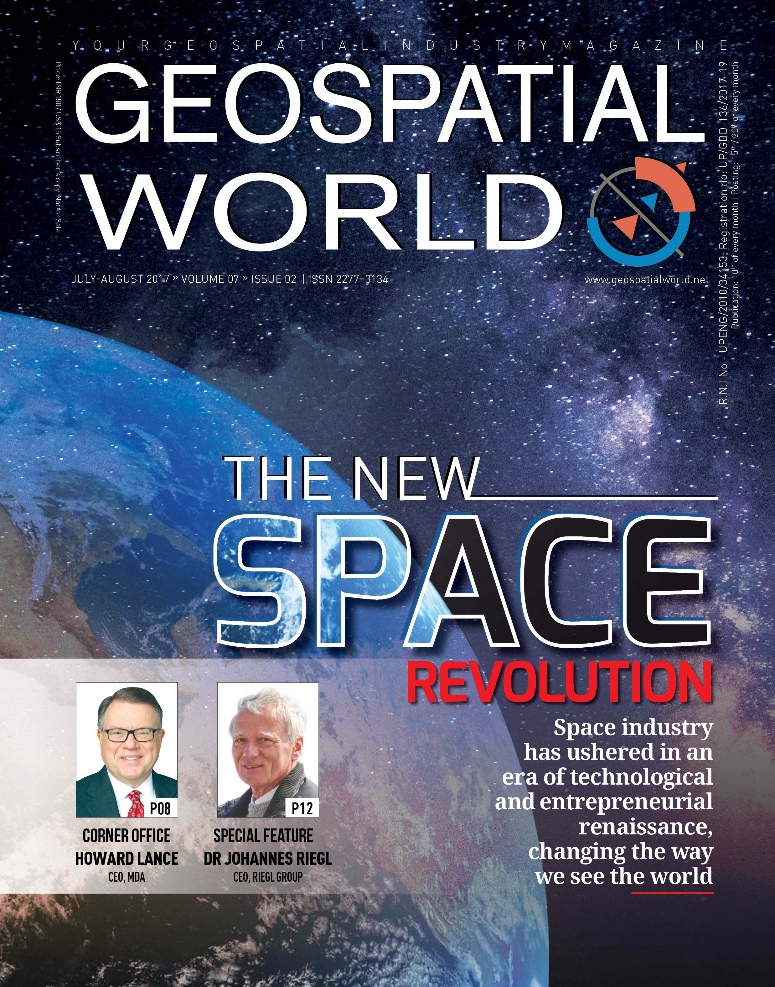 Geospatial World Magazine July 2017: Revolution in Satellite Technology