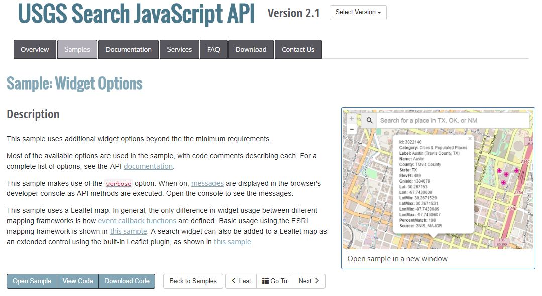 USGS JavaScript Library released