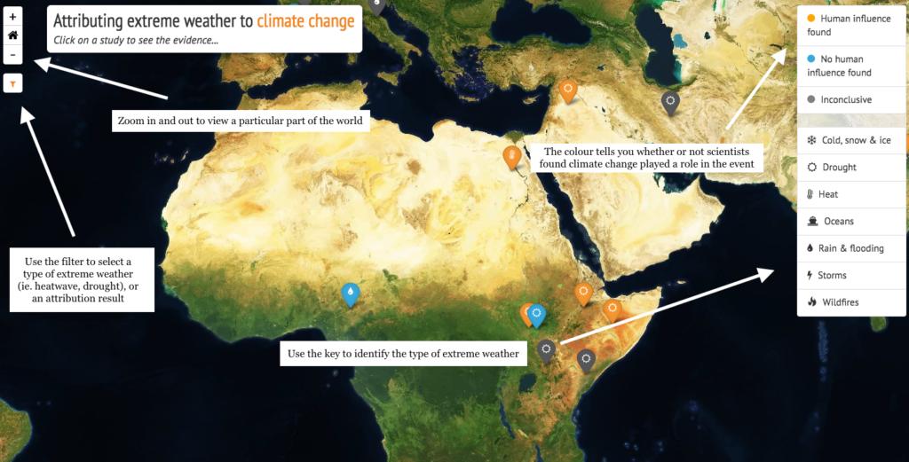 Carbon Krief capture d'écran de la carte