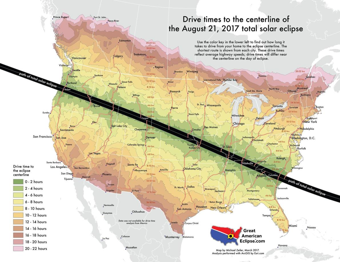Great Maps To Aid An Excellent View Of Solar Eclipse From The US - Us solar map