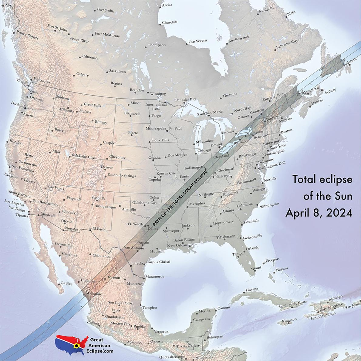 Great Maps To Aid An Excellent View Of Solar Eclipse From The Us