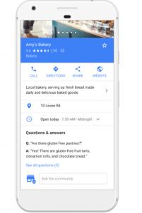 Q & A Google Maps