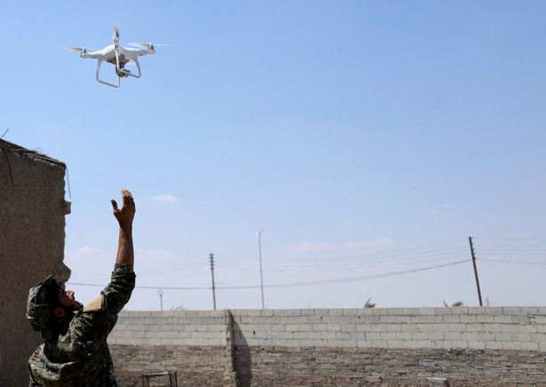 drones flying near military bases