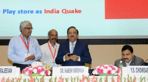 Dr. Harsh Vardhan inaugurating 'Sagar Vani' system on foundation day celebration of MoES