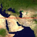 map shows the longest straight land path on Earth
