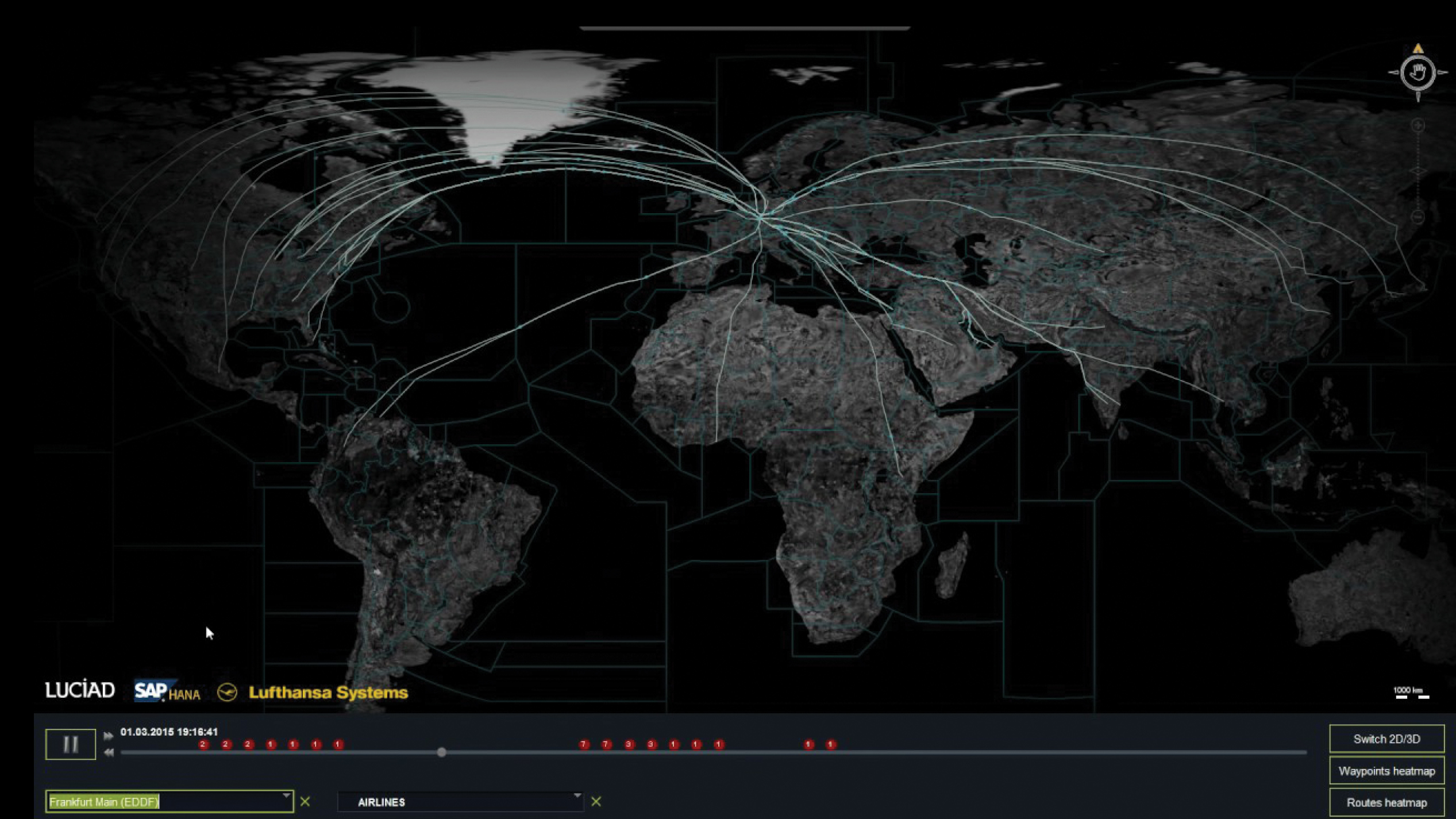Lufthansa Systems uses a system with spatial capabilities to track global flight operations more closely and accurately