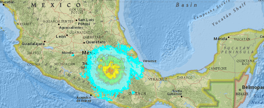 Esri creates impact summary map after Mexico earthquake ...