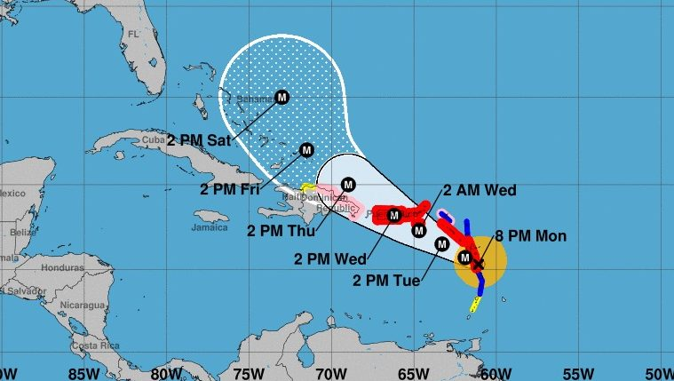 NOAA tracks path of Hurricane Maria with latest updated maps