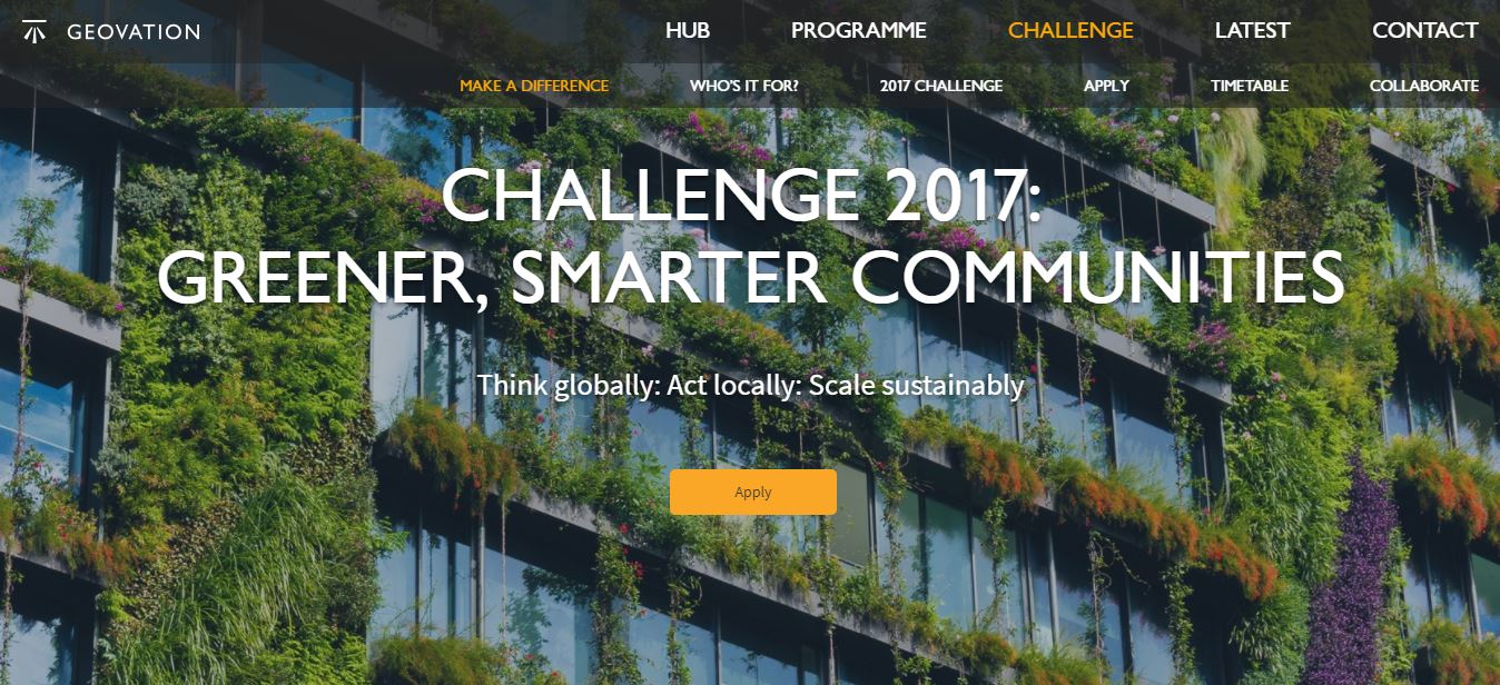 The Geovation Challenge has been launched