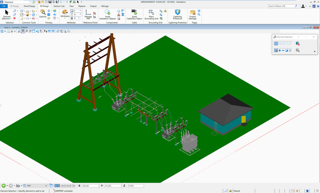 CONNECT edition of Bentley substation improving electrical design
