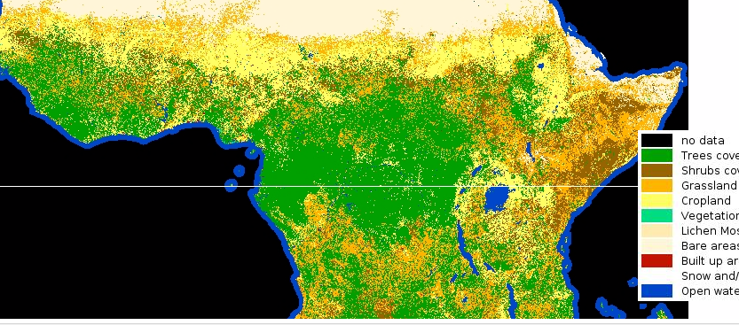 ESA high resolution land cover map of Africa