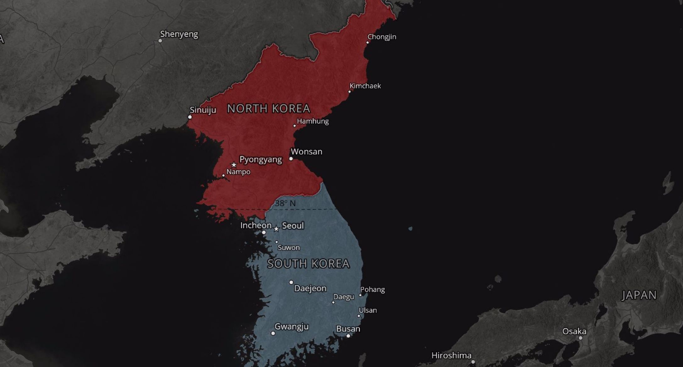 A tale of two koreas 10 maps show the vast sea of contradictions the korean war ended in a stalemate in 1953 with the signing of an armistice official peace treaty has still not been signed gumiabroncs Image collections