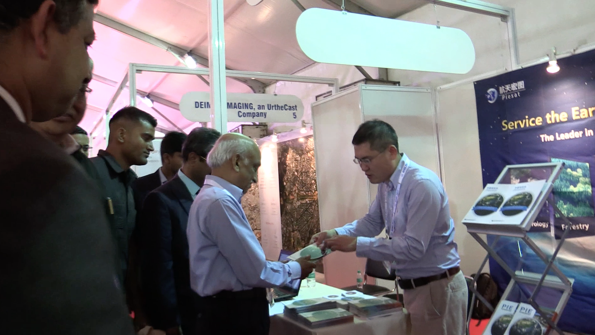 AS Kiran Kumar visits the exhibition area during ACRS-2017.