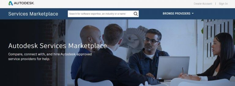 Autodesk has come up with its Services Marketplace
