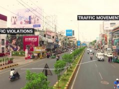 "Government of Andhra Pradesh, in association of Cisco, has created India's longest smart street, ""The Golden Mile"" in Vijayawada."