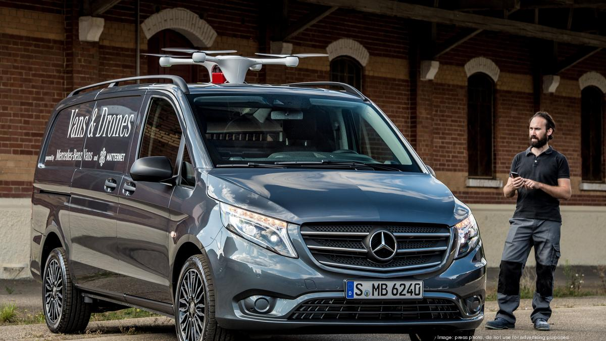 Mercedes benz launches a drone delivery program that uses for Mercedes benz work vans