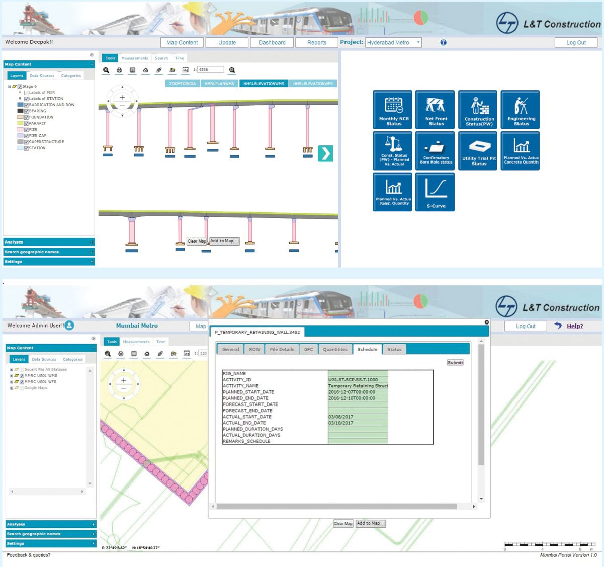 linear infrastructure projects monitoring